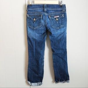 HUDSON Signature Flap Cropped Skinny Jeans 27